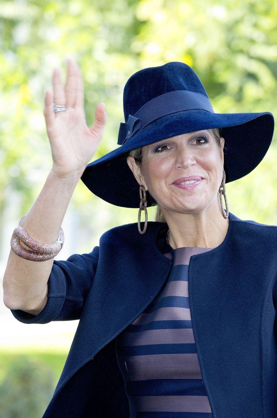 Le chapeau de la reine Maxima des Pays-Bas à Amersfoort, le 6 octobre 2017