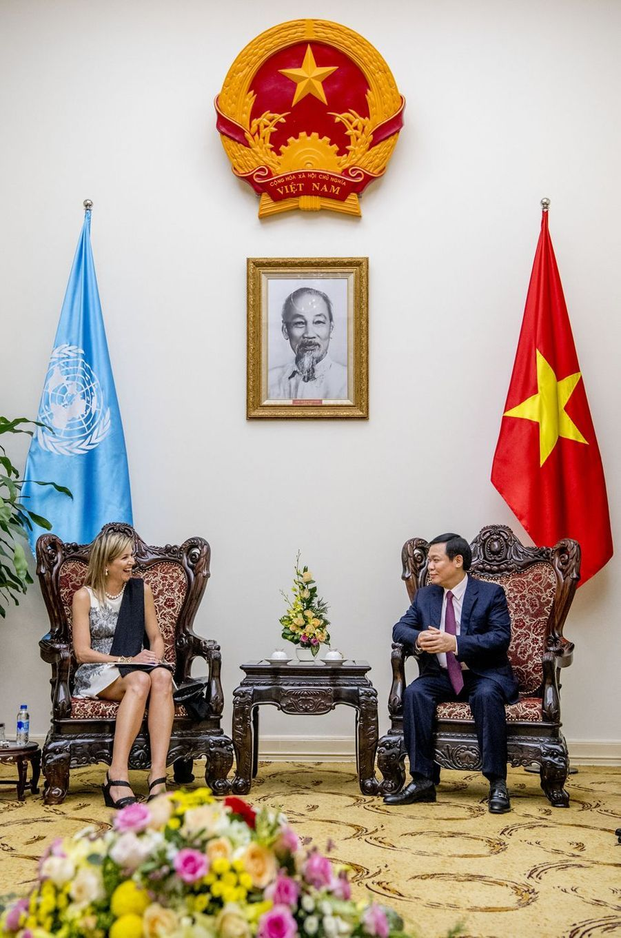 La reine Maxima des Pays-Bas et le Premier ministre du Vietnam à Hanoï, le 1er juin 2017