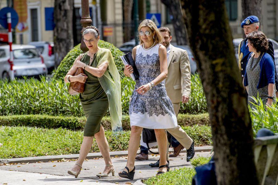 La reine Maxima des Pays-Bas à Hanoï, le 1er juin 2017