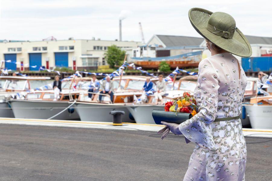 La reine Maxima des Pays-Bas, de dos, à Amsterdam le 16 mai 2019