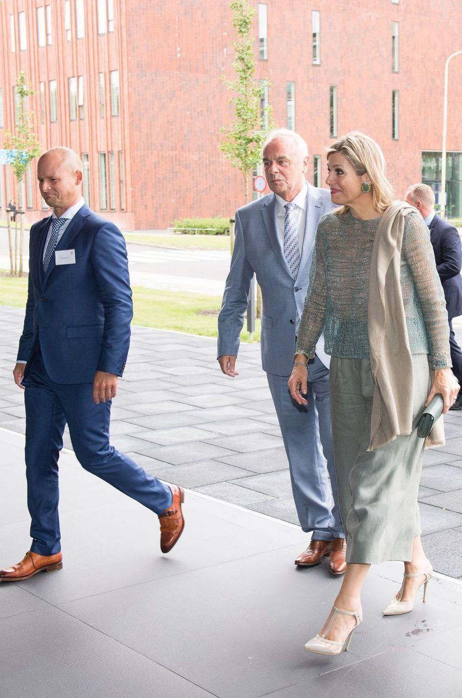 La reine Maxima des Pays-Bas à Groningue, le 19 juin 2018