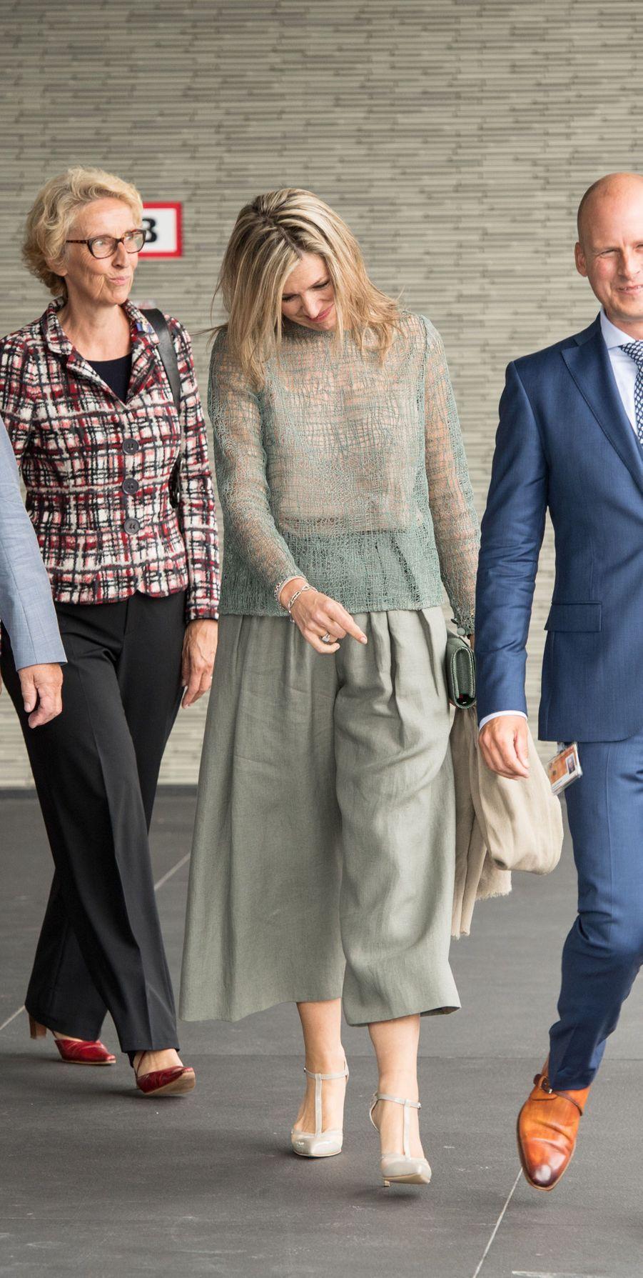 La reine Maxima des Pays-Bas à Groningen, le 19 juin 2018