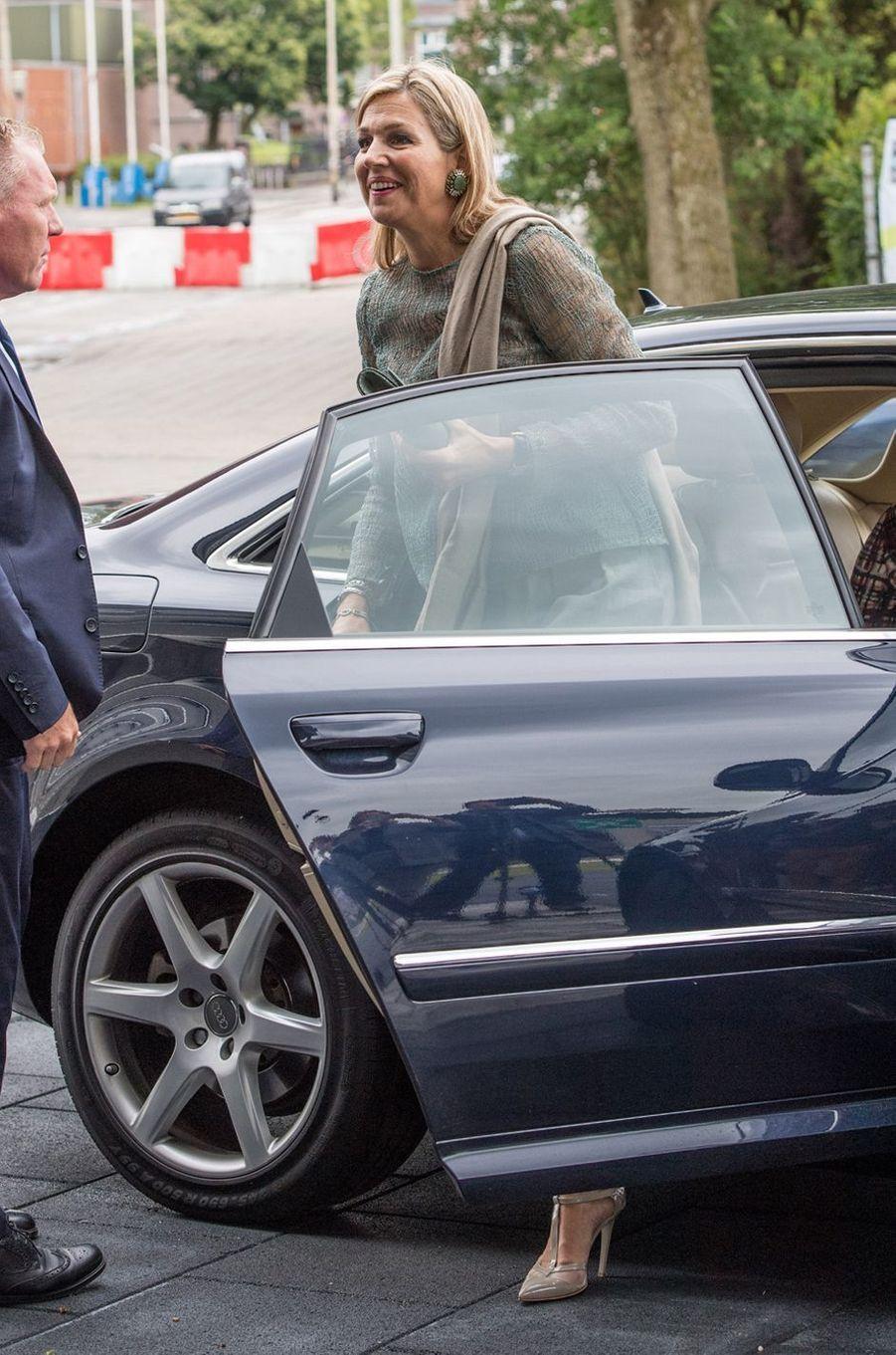 La reine Maxima des Pays-Bas arrive à Groningen, le 19 juin 2018