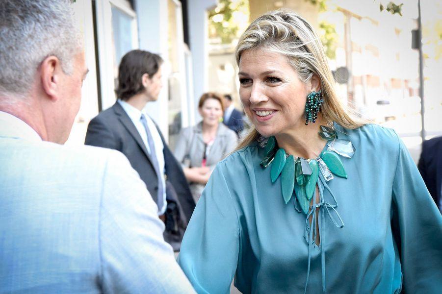 La reine Maxima des Pays-Bas à Rotterdam, le 12 juillet 2018