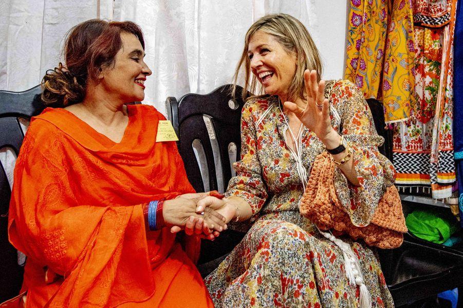 La reine Maxima des Pays-Bas à Dhaka au Bangladesh, le 10 juillet 2019