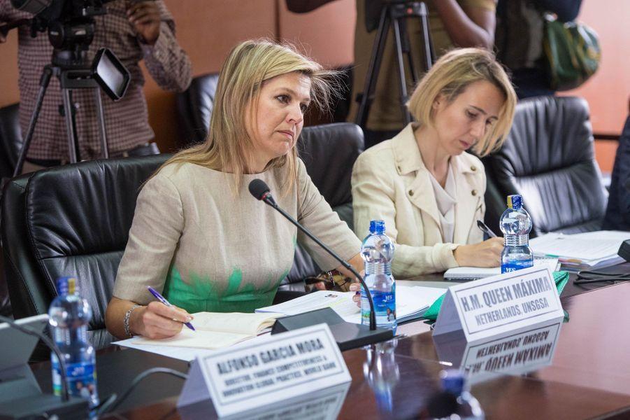 La reine Maxima des Pays-Bas en réunion à Addis-Abeba en Ethiopie, le 15 mai 2019