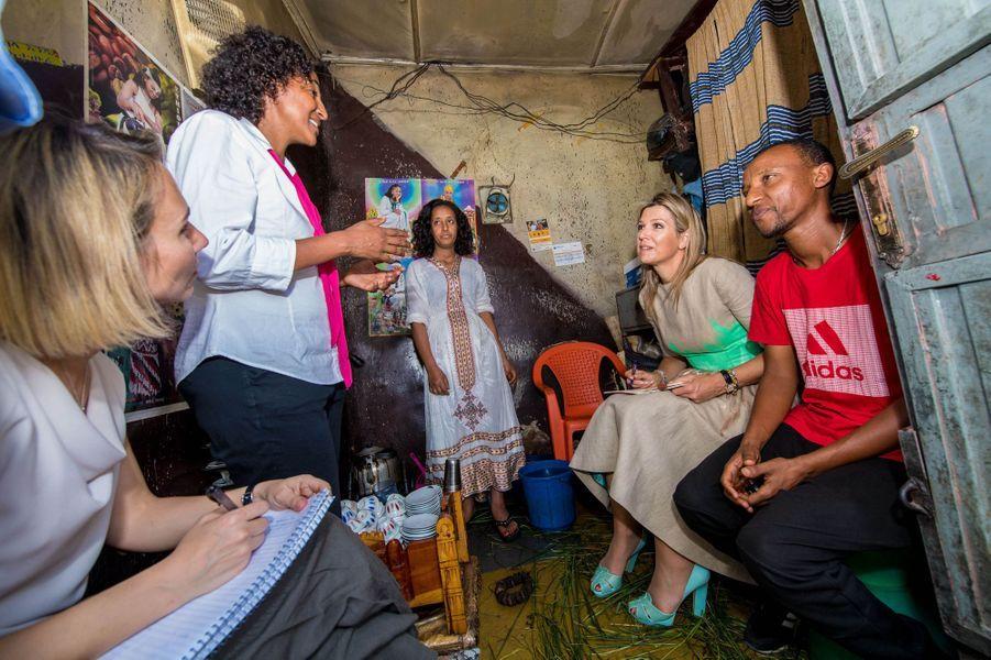 La reine Maxima des Pays-Bas à Addis-Abeba en Ethiopie, le 15 mai 2019