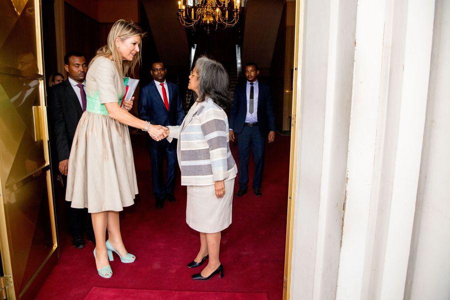 La reine Maxima des Pays-Bas avec la présidente éthiopienne à Addis-Abeba, le 15 mai 2019