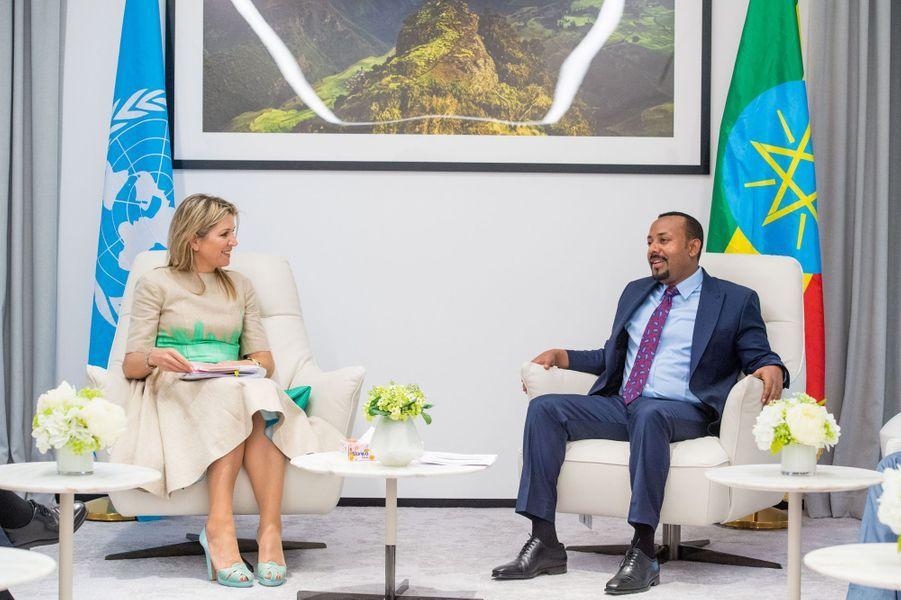 La reine Maxima des Pays-Bas avec le Premier ministre éthiopien à Addis-Abeba, le 15 mai 2019