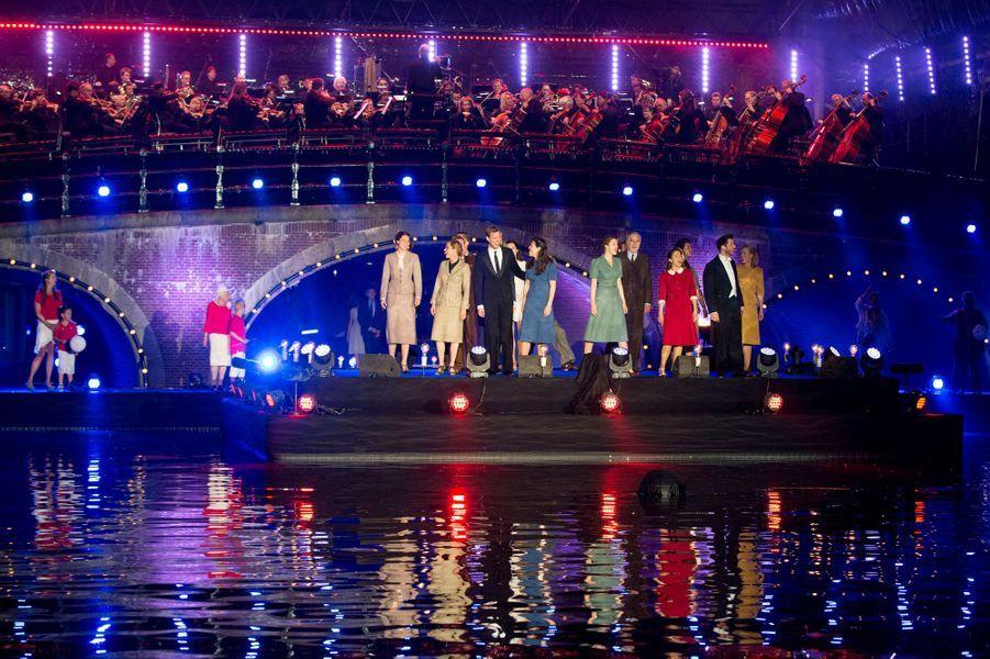 La concert de la Libération sur la rivière de l'Amstel à Amsterdam, le 5 mai 2016