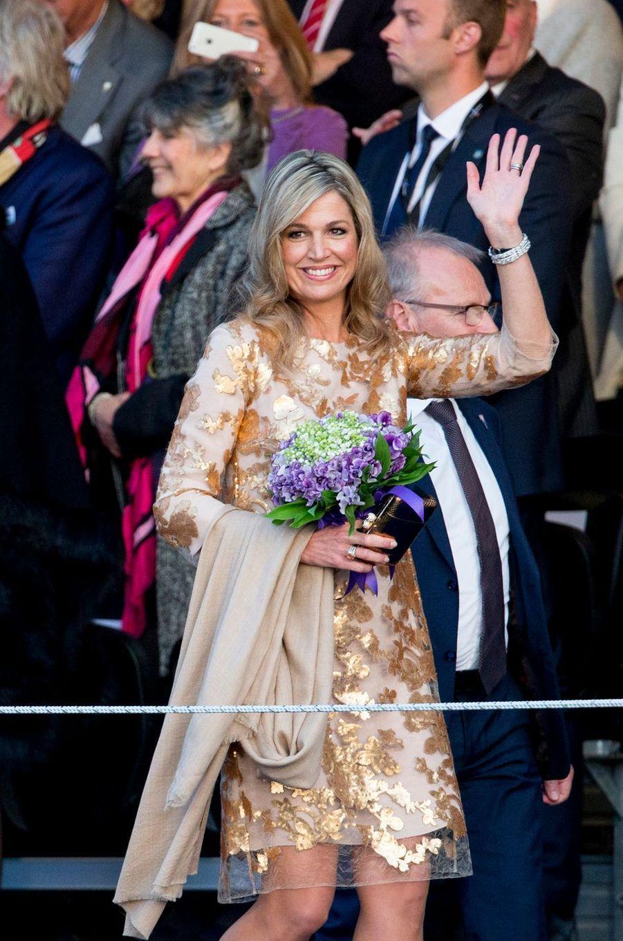 La reine Maxima des Pays-Bas à Amsterdam, le 5 mai 2016