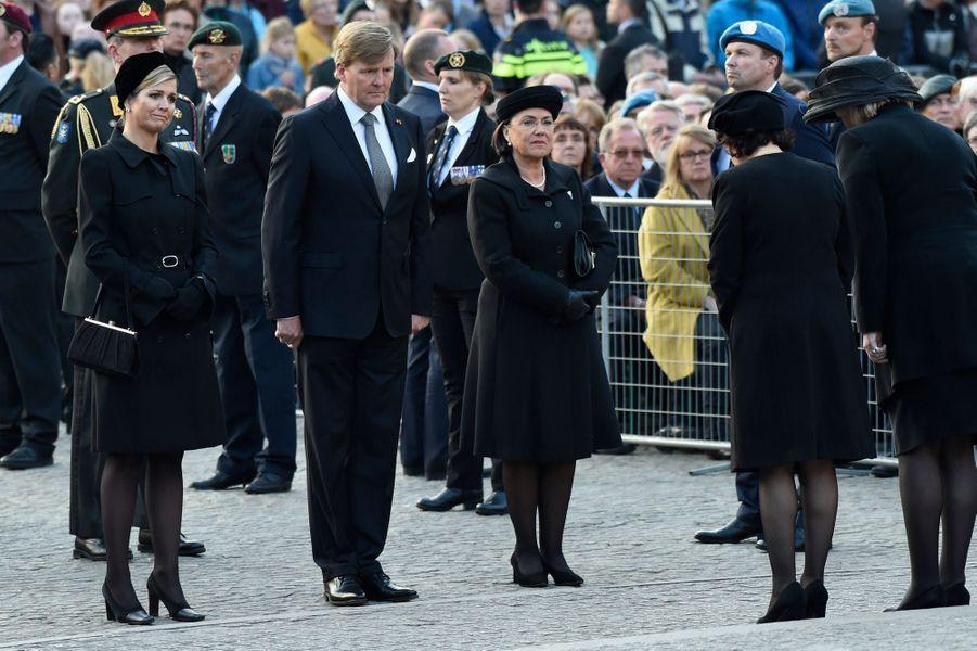 La reine Maxima et le roi Willem-Alexander des Pays-Bas à Amsterdam, le 4 mai 2016
