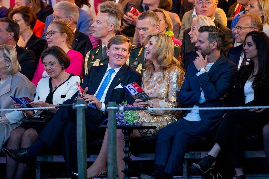 La reine Maxima et le roi Willem-Alexander des Pays-Bas à Amsterdam, le 5 mai 2016