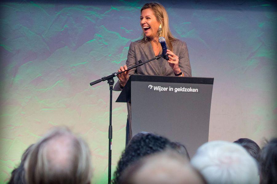 La reine Maxima des Pays-Bas à Amsterdam, le 6 octobre 2015