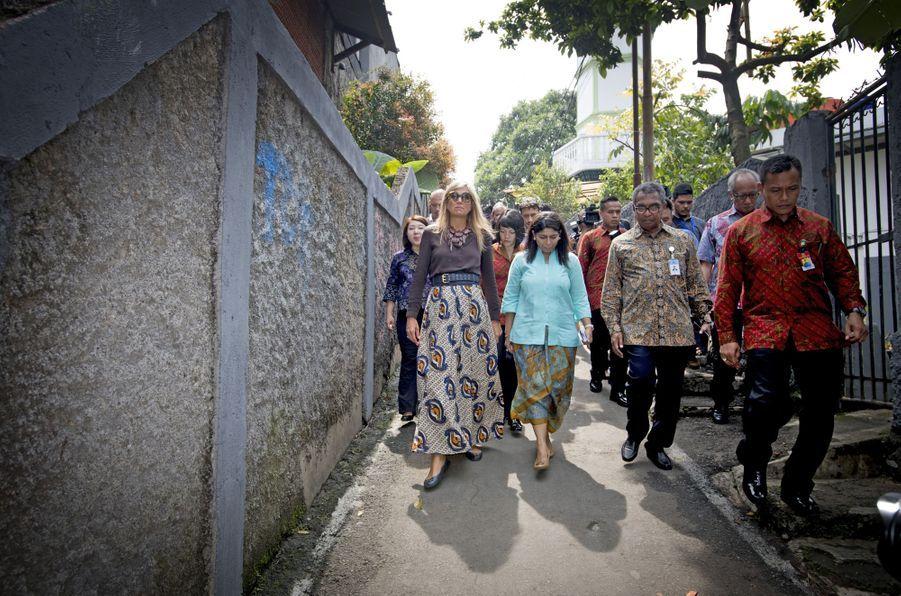 La reine Maxima des Pays-Bas à Bogor, le 31 août 2016
