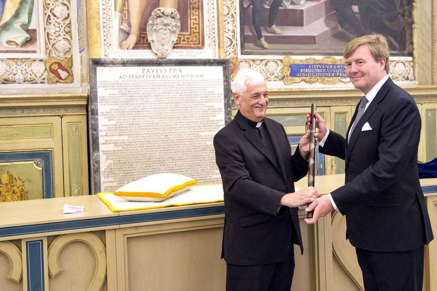 Le roi Willem-Alexander des Pays-Bas au Vatican, le 22 juin 2017