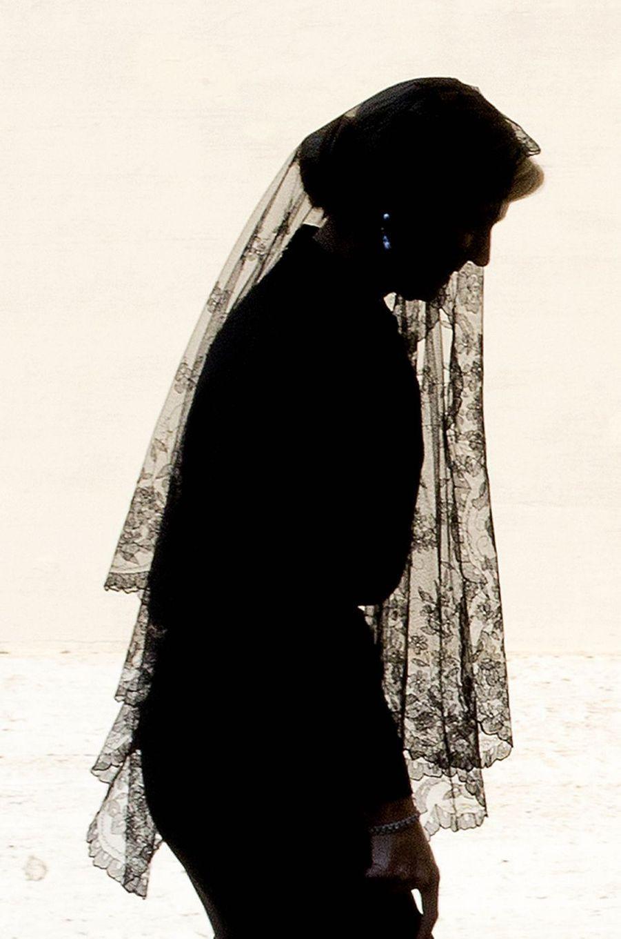 La reine Maxima des Pays-Bas tout en noir au Vatican, le 22 juin 2017