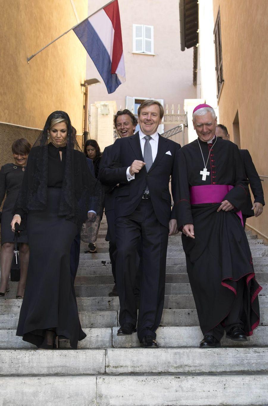 La reine Maxima et le roi Willem-Alexander des Pays-Bas au Vatican, le 22 juin 2017