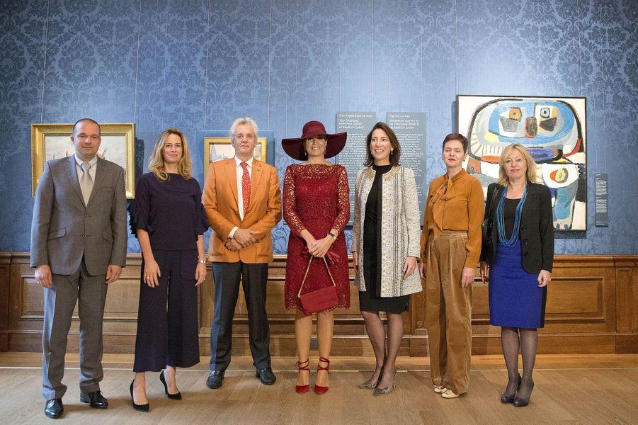 La reine Maxima des Pays-Bas à La Haye, le 4 octobre 2017