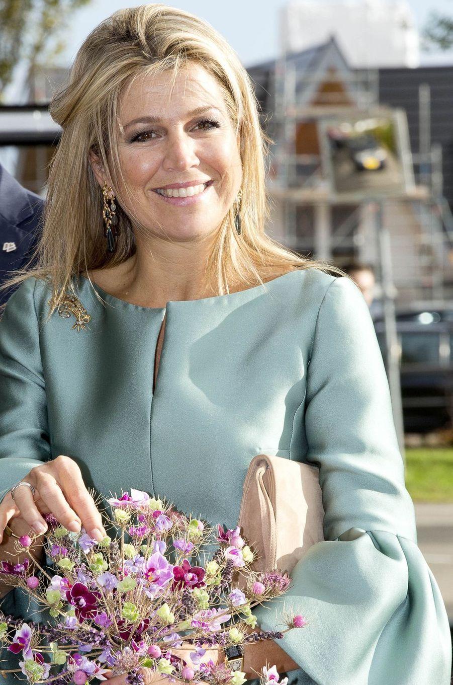 La reine Maxima des Pays-Bas à Westland, le 3 octobre 2017