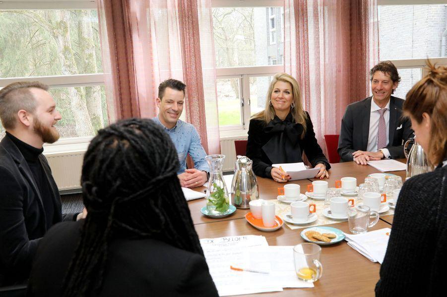 La reine Maxima des Pays-Bas à Doorn, le 23 mars 2018