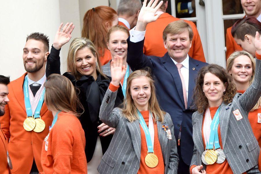La reine Maxima et le roi Willem-Alexander des Pays-Bas à La Haye, le 23 mars 2018