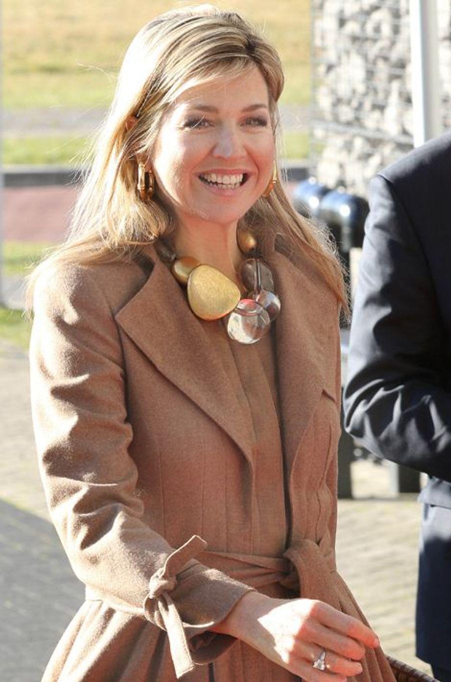 La reine Maxima des Pays-Bas à Oegstgeest, le 7 mars 2016