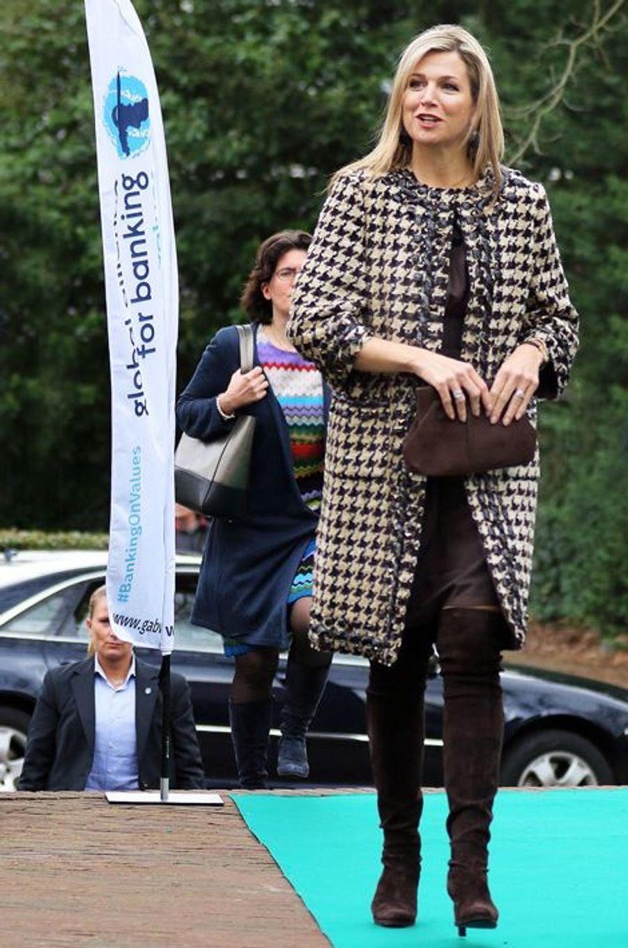 La reine Maxima des Pays-Bas à Zeist, le 8 mars 2016