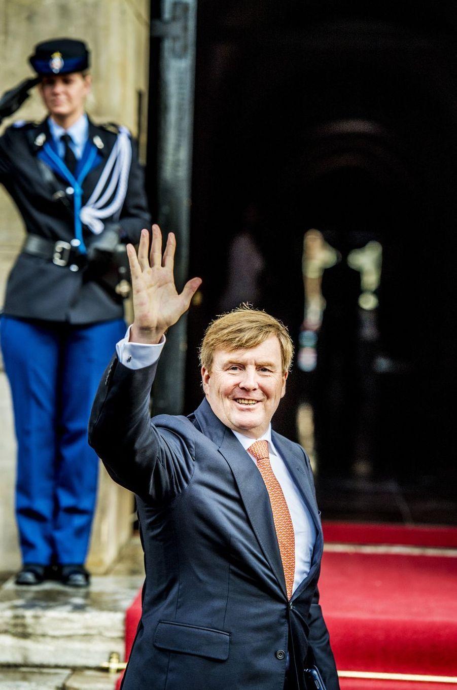 Le roi Willem-Alexander des Pays-Bas à Amsterdam, le 16 janvier 2018