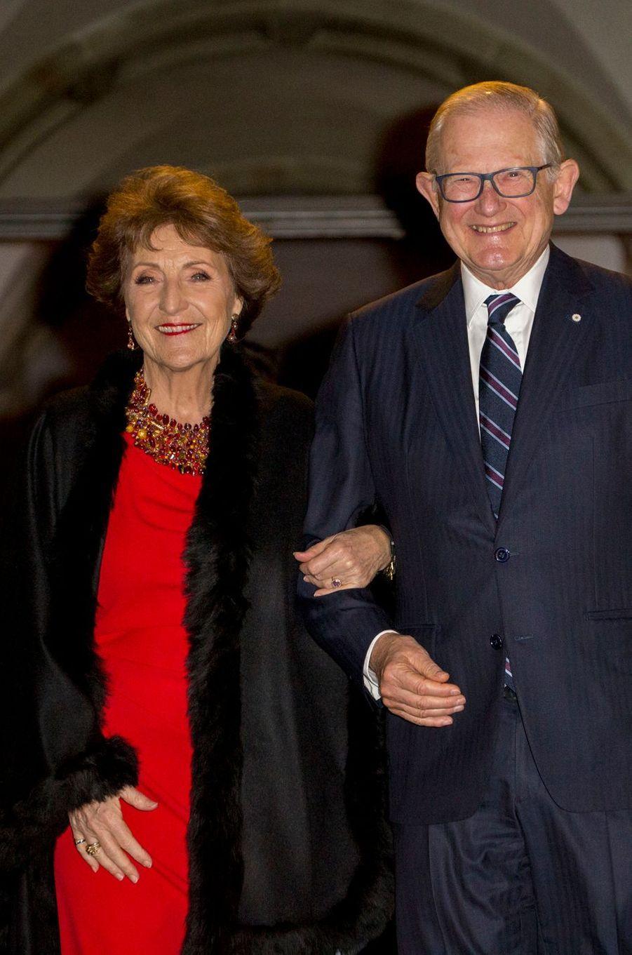 La princesse Margriet des Pays-Bas et son mari Pieter van Vollenhoven à Amsterdam, le 16 janvier 2018