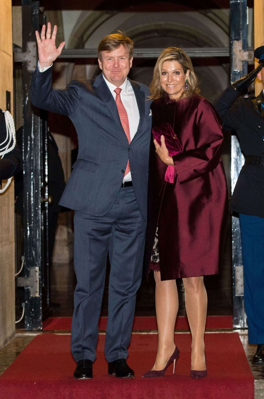 La reine Maxima et le roi Willem-Alexander des Pays-Bas à Amsterdam, le 16 janvier 2018
