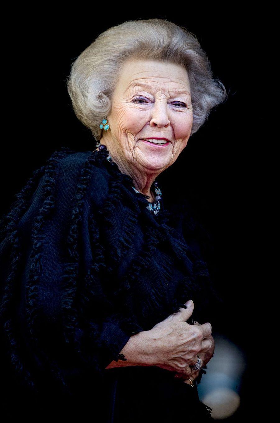 La princesse Beatrix des Pays-Bas à Amsterdam, le 16 janvier 2018