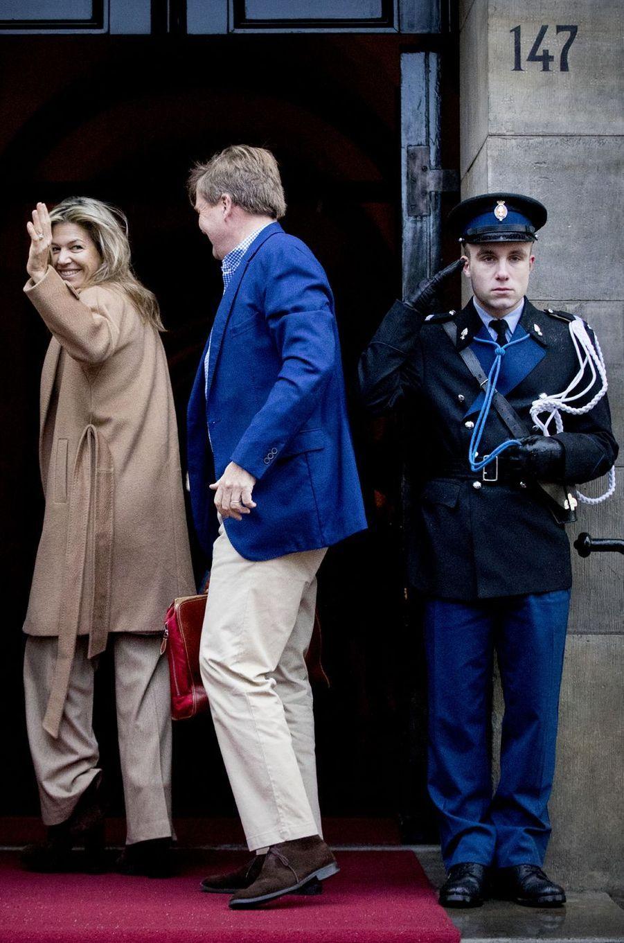 La reine Maxima et le roi Willem-Alexander des Pays-Bas à Amsterdam, le 17 janvier 2018