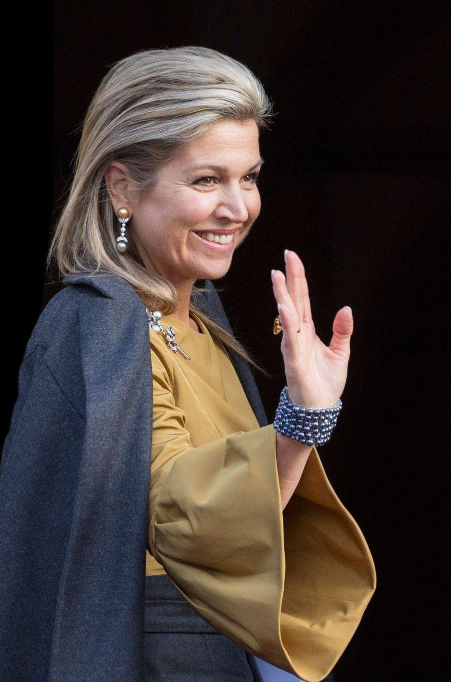 La reine Maxima des Pays-Bas à Amsterdam, le 17 janvier 2017