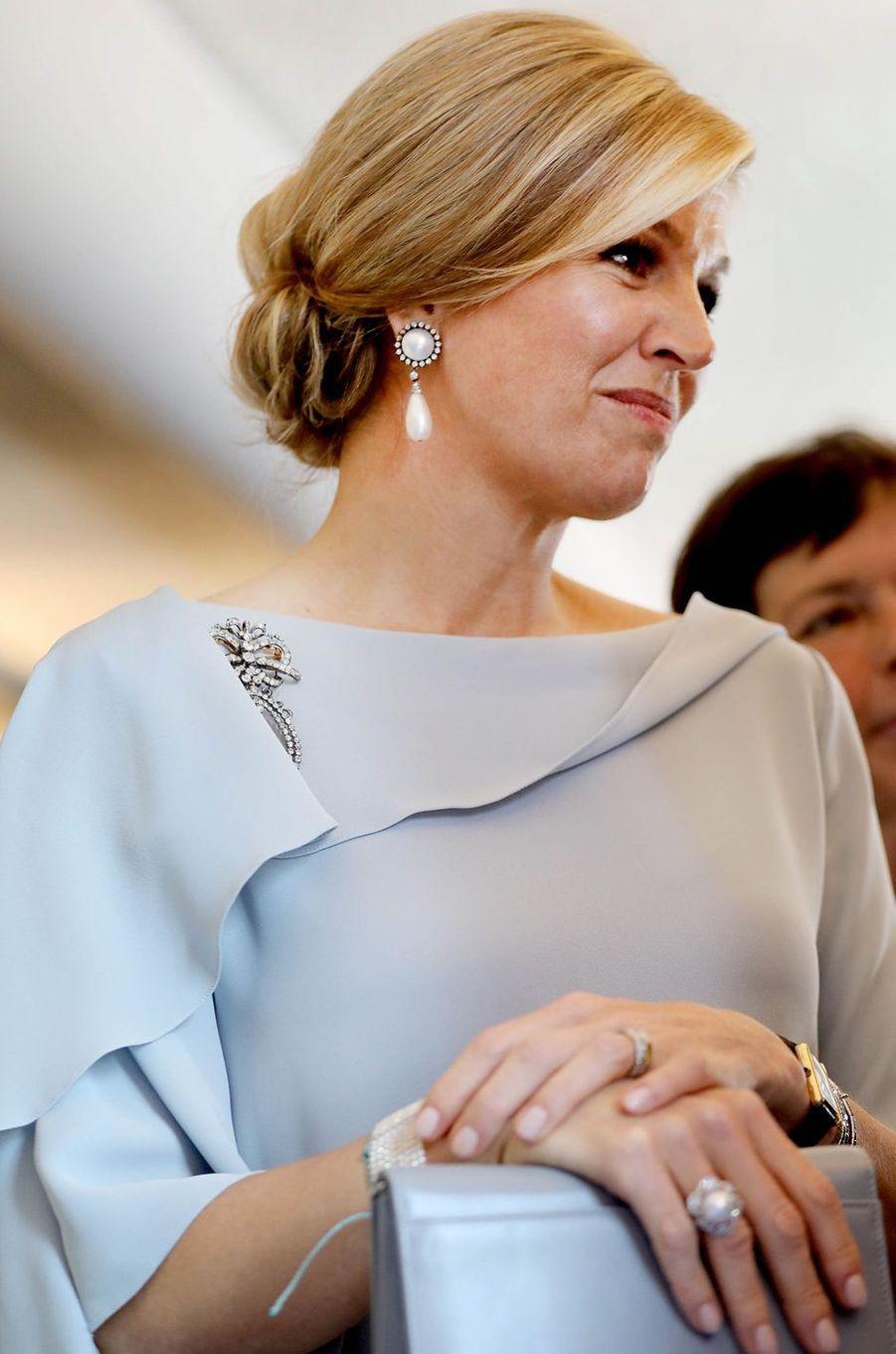 La reine Maxima des Pays-Bas à Amsterdam, le 6 juin 2018