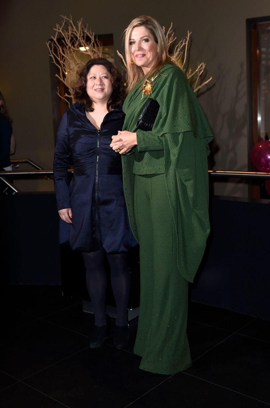 La reine Maxima des Pays-Bas à Amsterdam, le 8 mars 2017