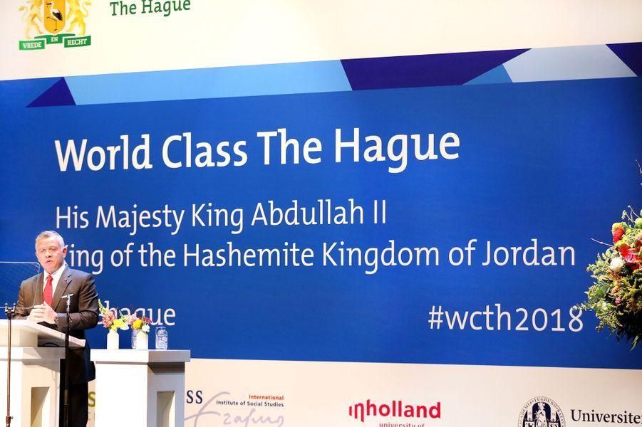 Le roi Abdallah II de Jordanie à La Haye, le 20 mars 2018