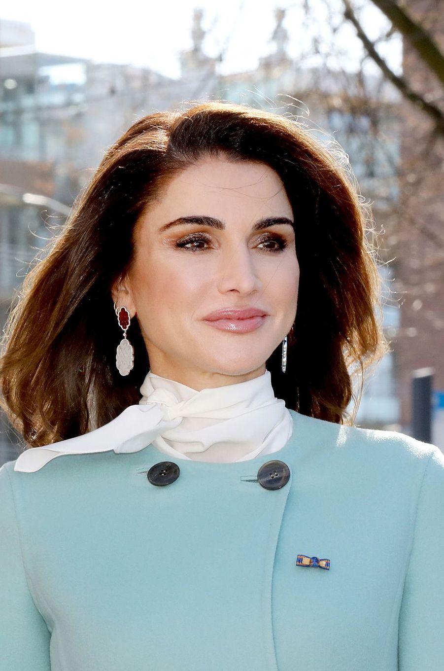 La reine Rania de Jordanie à La Haye, le 20 mars 2018