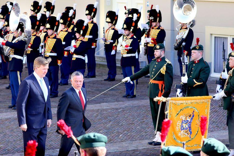 Les rois Willem-Alexander des Pays-Bas et Abdallah II de Jordanie à La Haye, le 20 mars 2018