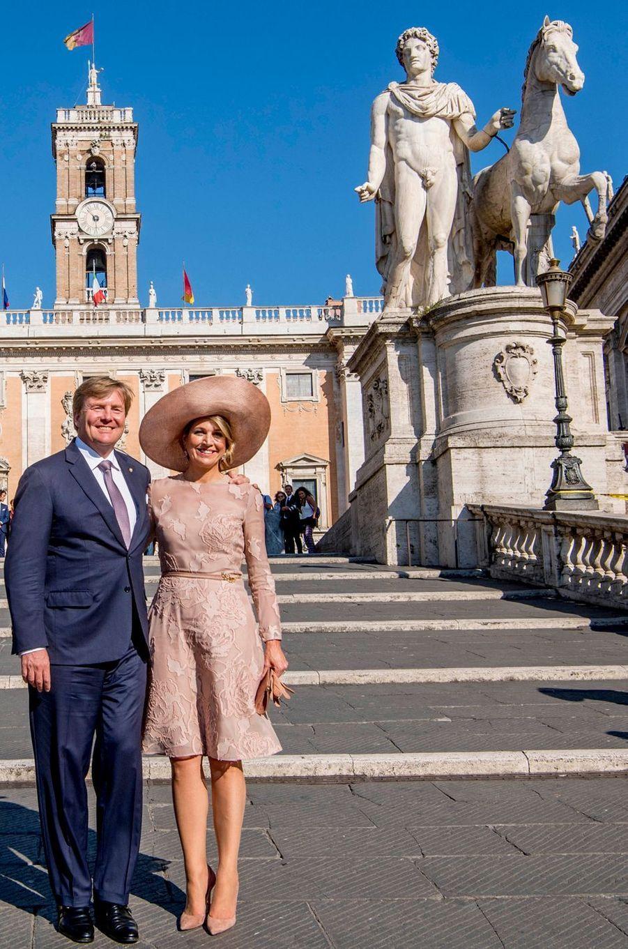 La reine Maxima et le roi Willem-Alexander des Pays-Bas à Rome, le 20 juin 2017