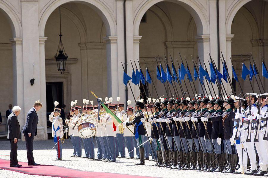 Le roi Willem-Alexander des Pays-Bas et le président italien Sergio Mattarella à Rome, le 20 juin 2017