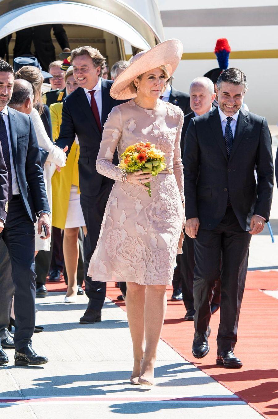 La reine Maxima des Pays-Bas arrive à Rome, le 20 juin 2017