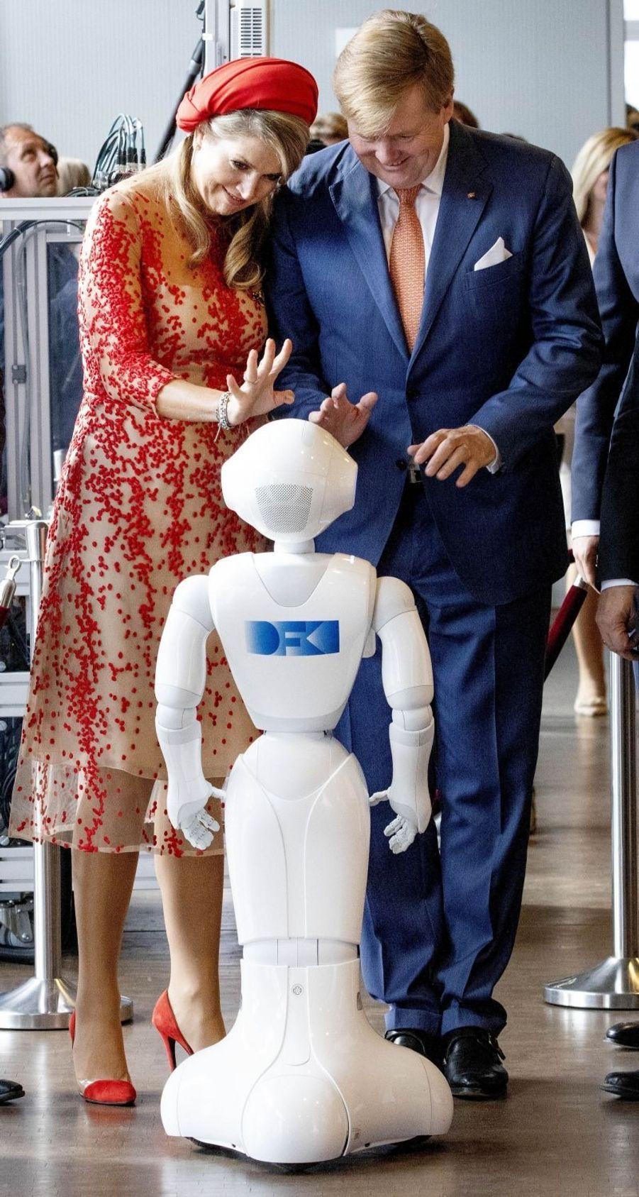 La reine Maxima et le roi Willem-Alexander des Pays-Bas à Sarrebruck, le 11 octobre 2018