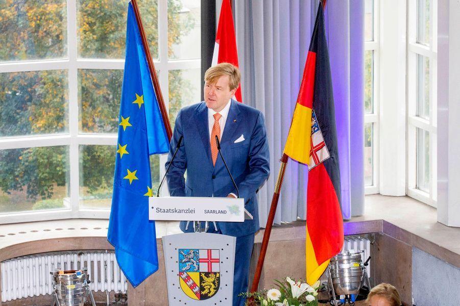 Le roi Willem-Alexander des Pays-Bas à Sarrebruck, le 11 octobre 2018