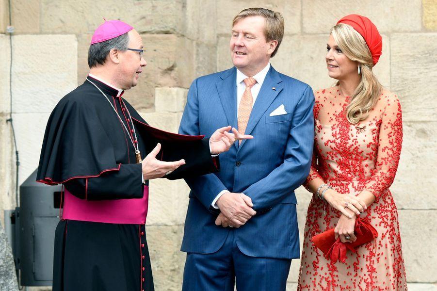 Le roi Willem-Alexander des Pays-Bas et la reine Maxima à Trèves, le 11 octobre 2018