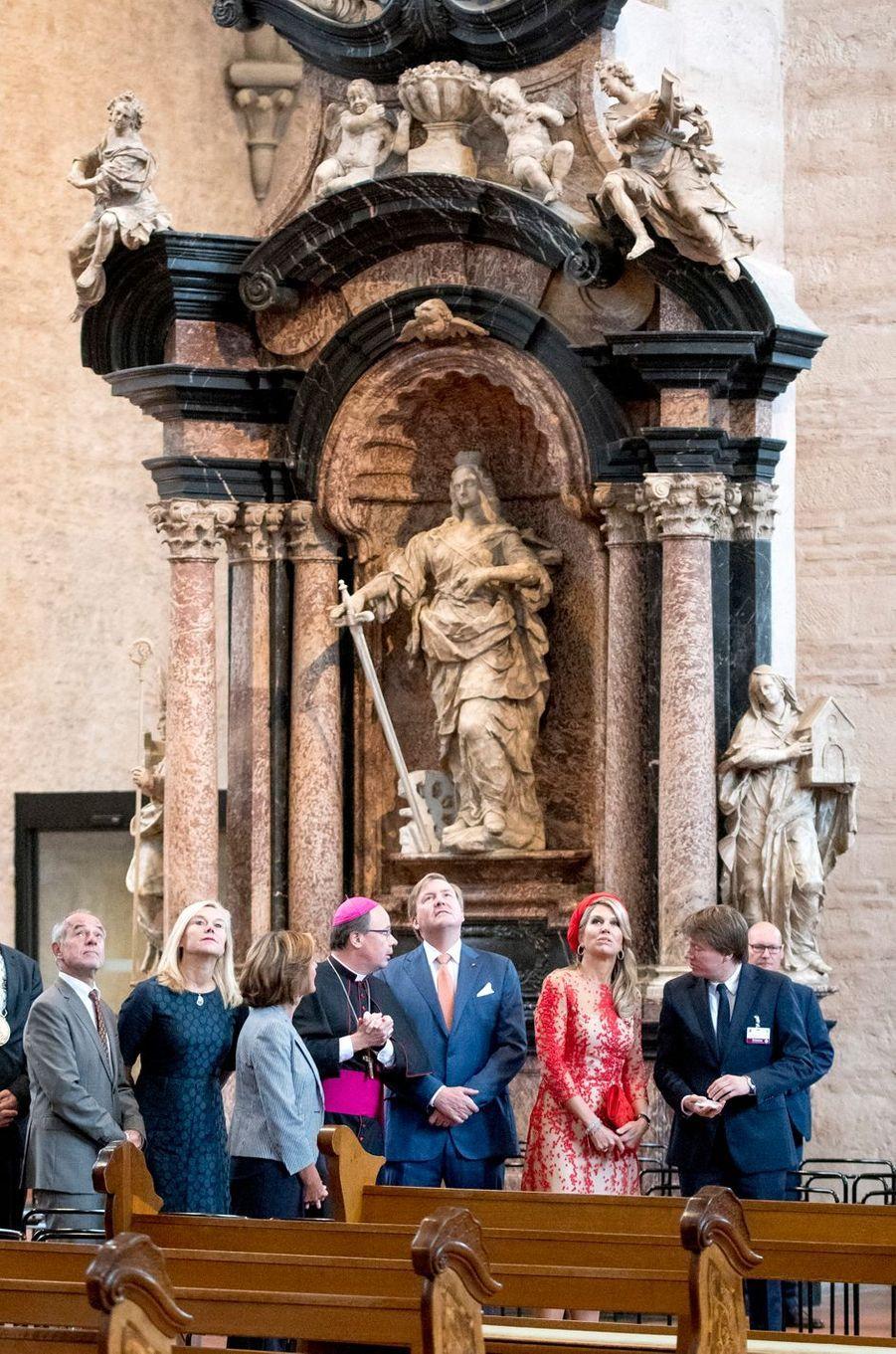 La reine Maxima et le roi Willem-Alexander des Pays-Bas à Trèves, le 11 octobre 2018