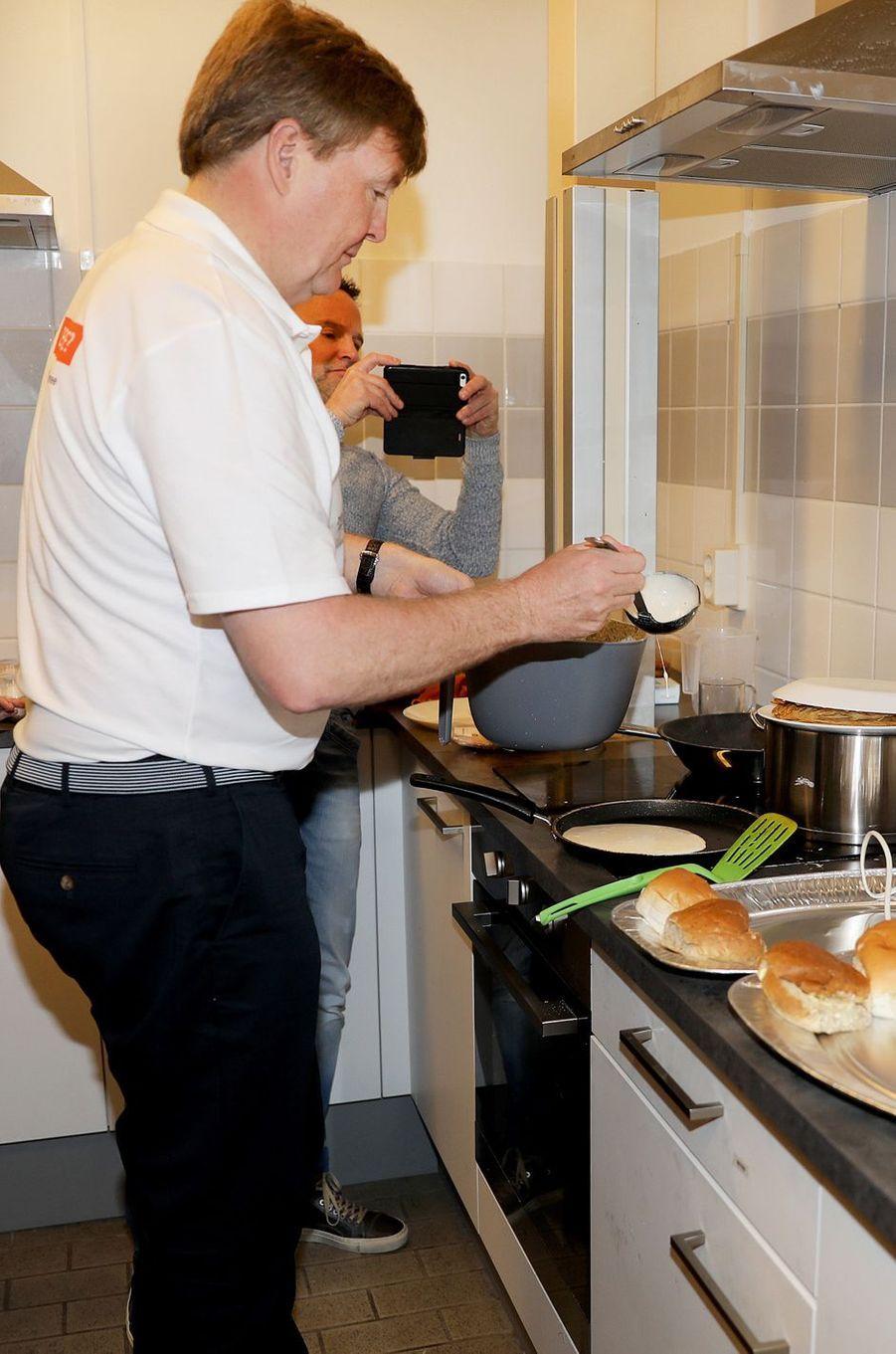 Le roi Willem-Alexander des Pays-Bas à Pijnacker, le 10 mars 2018