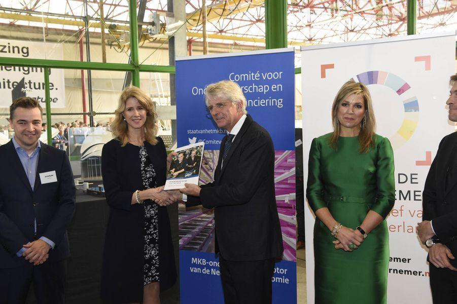 La reine Maxima des Pays-Bas à Delft, le 17 novembre 2017
