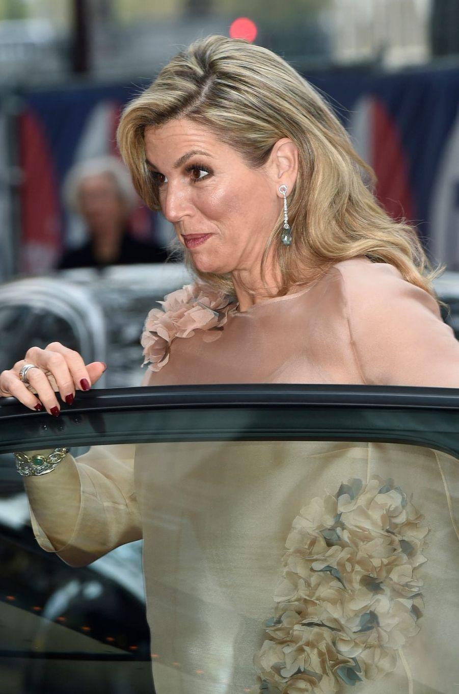 La reine Maxima des Pays-Bas à Amsterdam, le 5 mai 2017