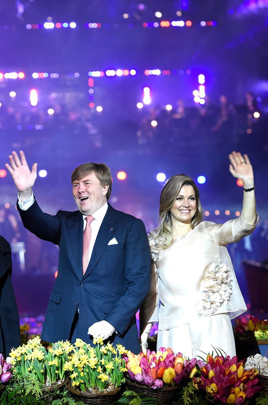 La reine Maxima et le roi Willem-Alexander des Pays-Bas à Amsterdam, le 5 mai 2017